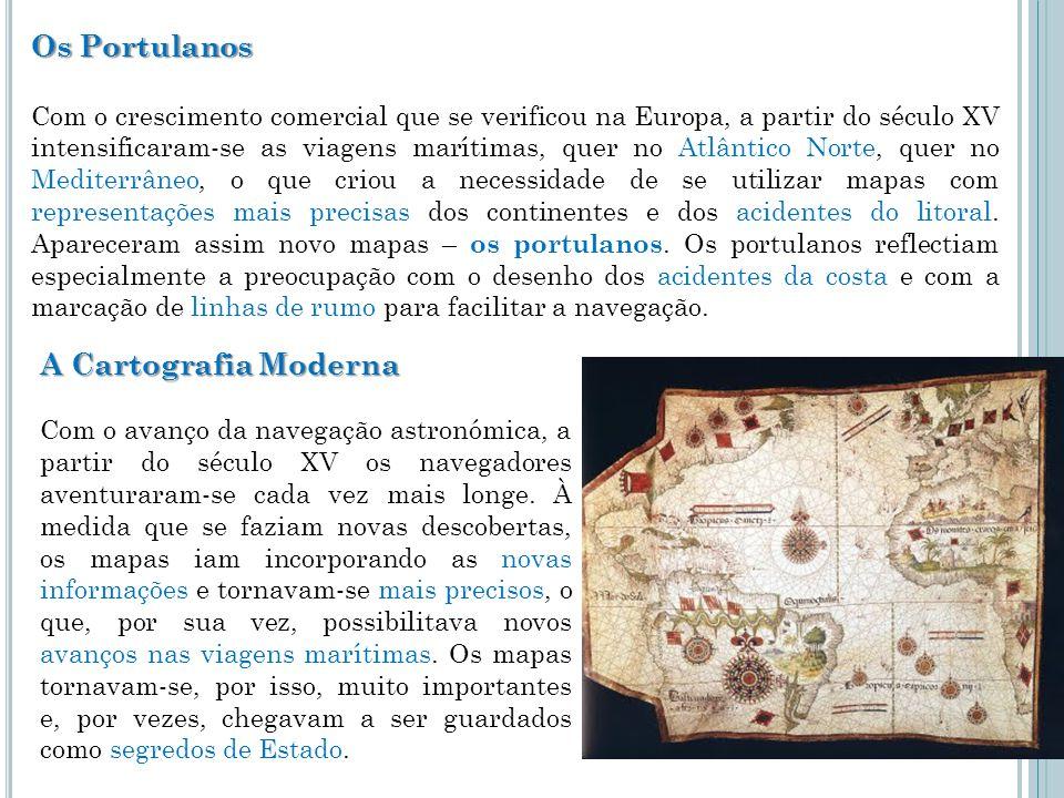 Os Portulanos A Cartografia Moderna