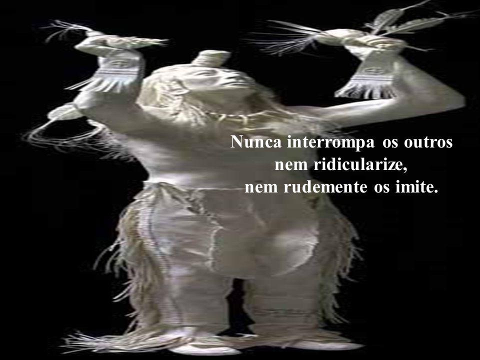 Nunca interrompa os outros