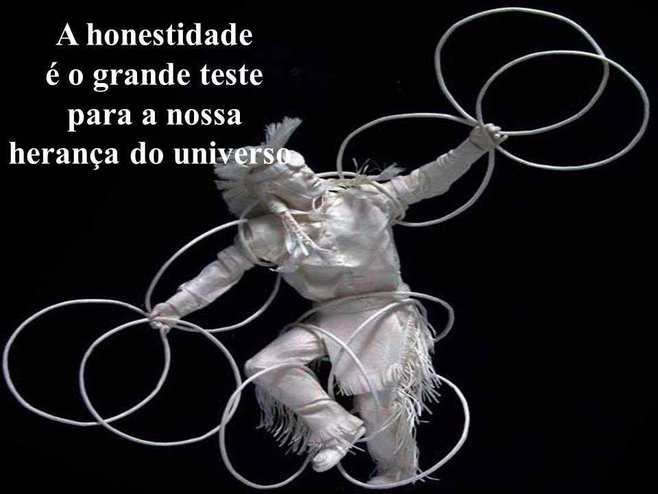 A honestidade é o grande teste para a nossa herança do universo.