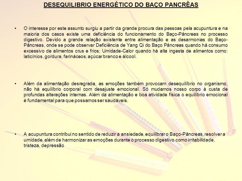 DESEQUILIBRIO ENERGÉTICO DO BAÇO PANCRÊAS