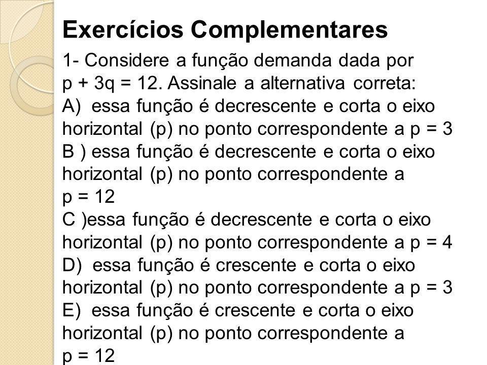 Exercícios Complementares