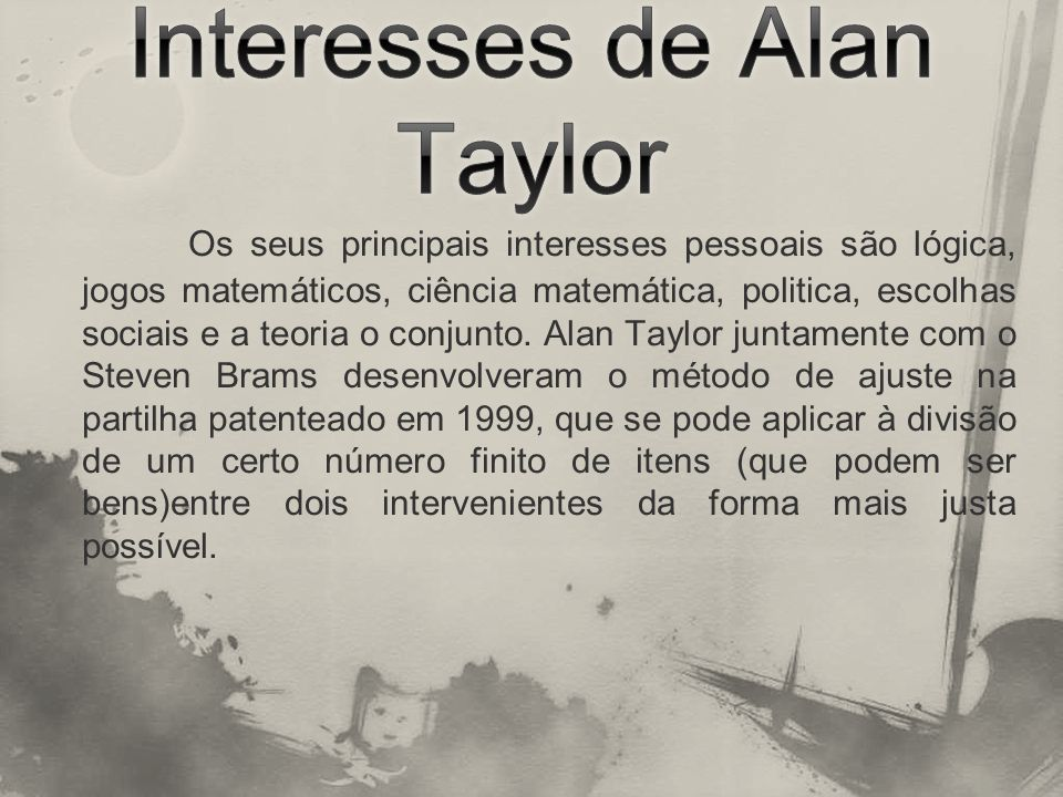 Interesses de Alan Taylor