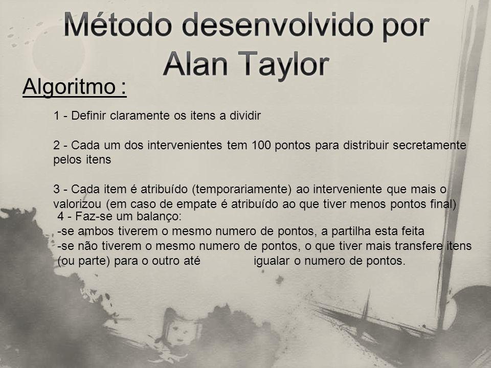 Método desenvolvido por Alan Taylor