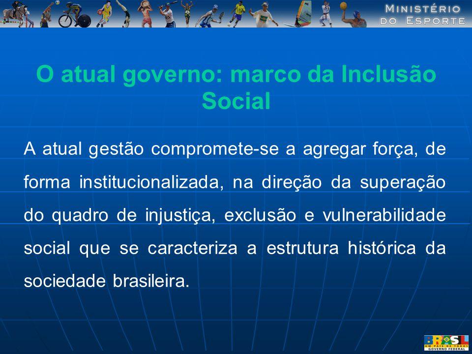 O atual governo: marco da Inclusão Social