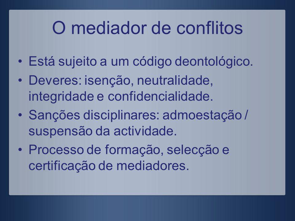 O mediador de conflitos