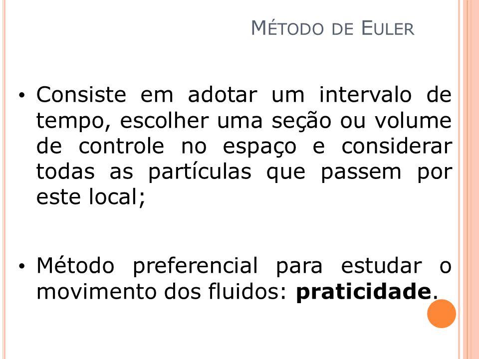 Método preferencial para estudar o movimento dos fluidos: praticidade.