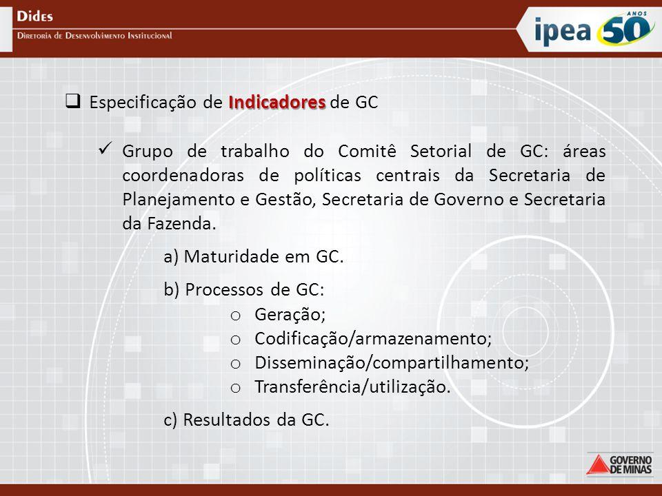 Especificação de Indicadores de GC