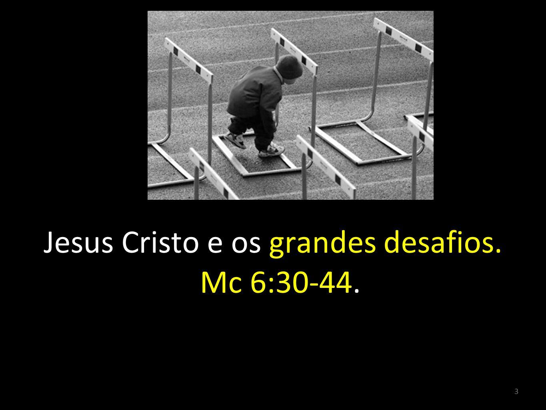 Jesus Cristo e os grandes desafios. Mc 6:30-44.