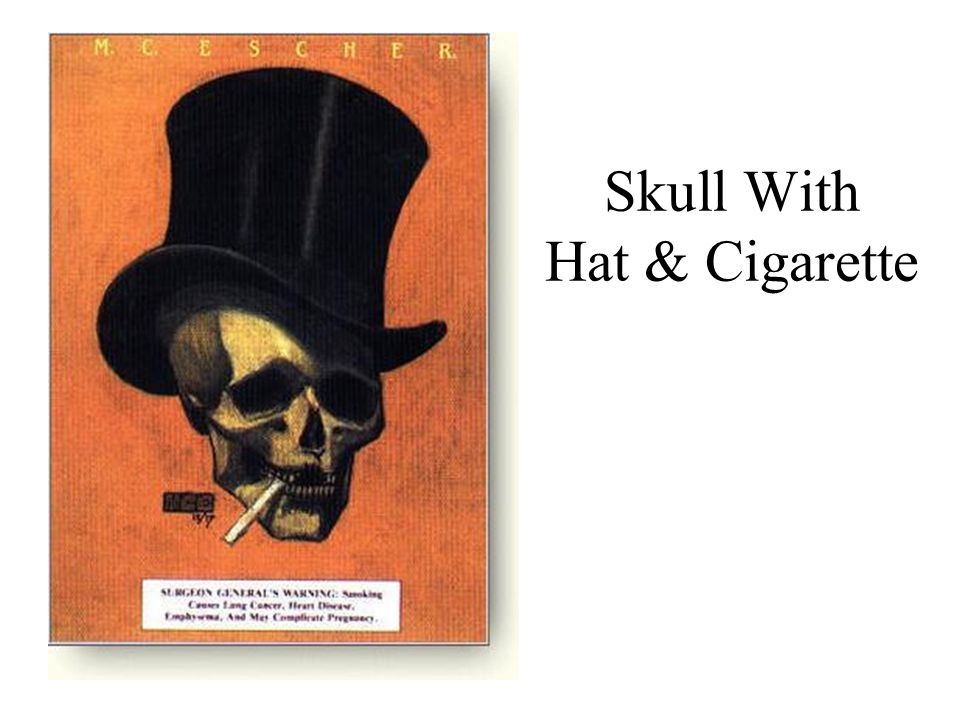 Skull With Hat & Cigarette