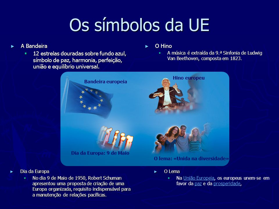 Os símbolos da UE A Bandeira