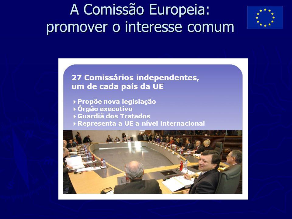 A Comissão Europeia: promover o interesse comum