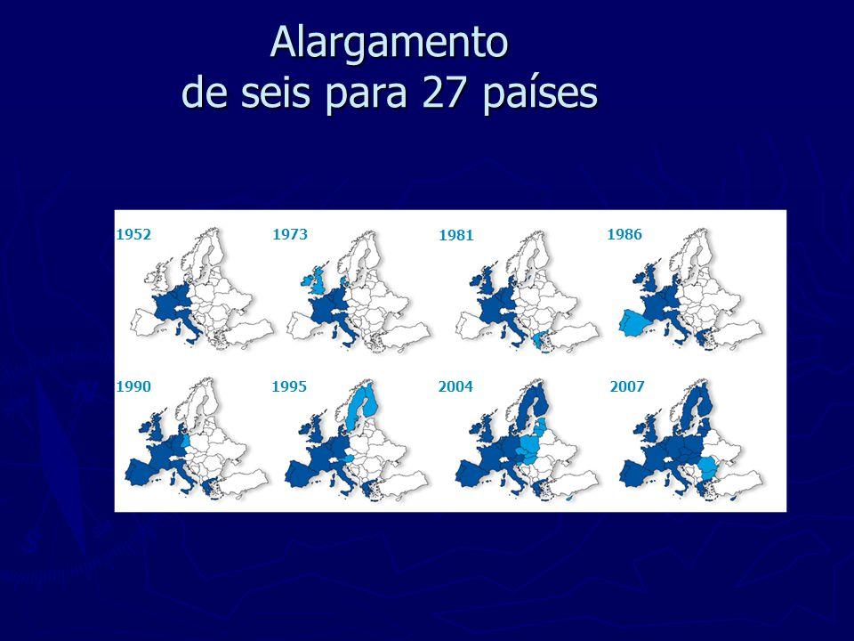 Alargamento de seis para 27 países