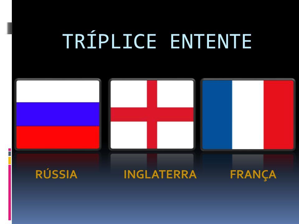 TRÍPLICE ENTENTE RÚSSIA INGLATERRA FRANÇA