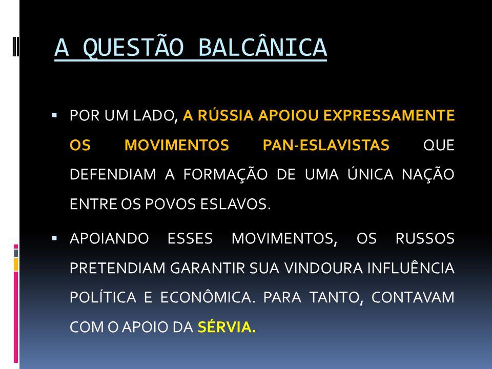 A QUESTÃO BALCÂNICA