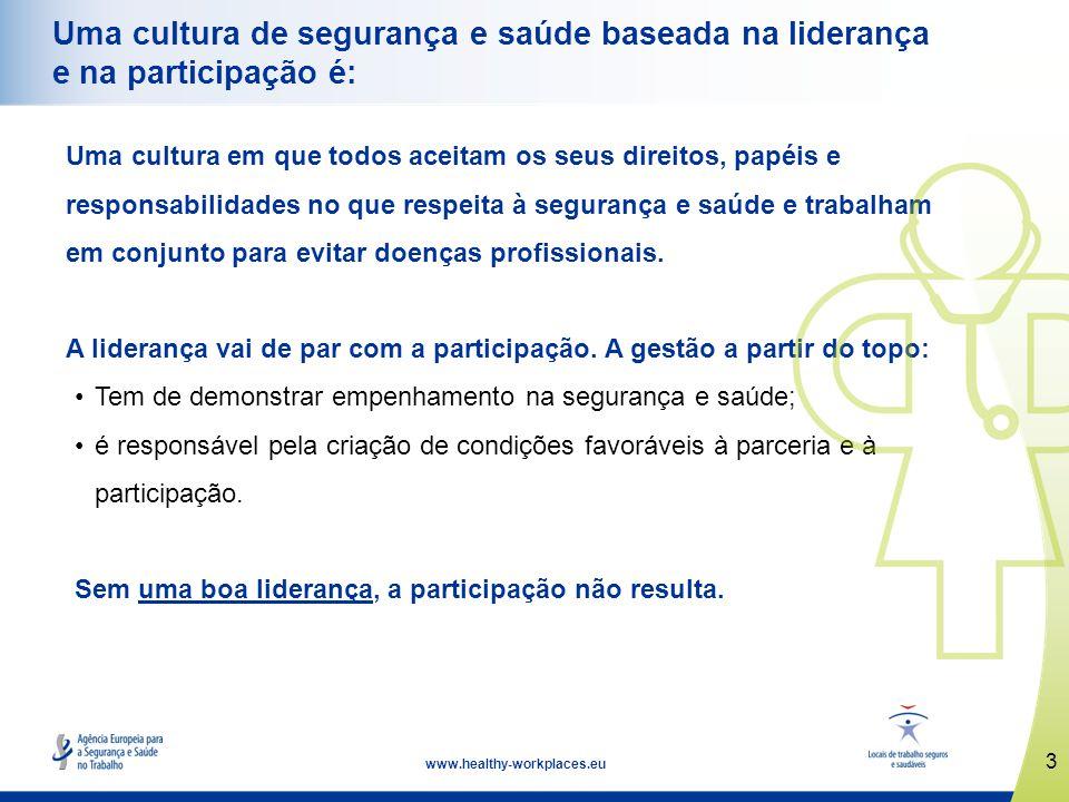 Uma cultura de segurança e saúde baseada na liderança e na participação é: