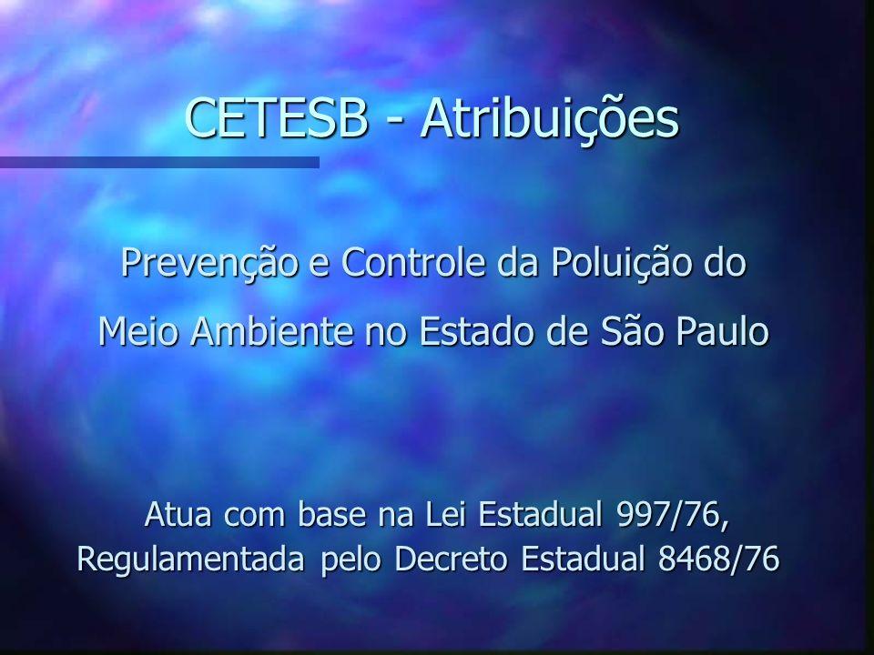 CETESB - Cia de Tecnologia de Saneamento Ambiental