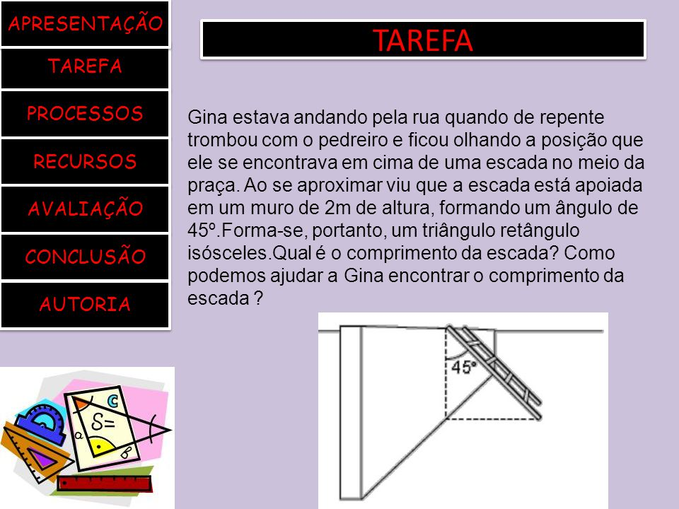 TAREFA APRESENTAÇÃO TAREFA PROCESSOS