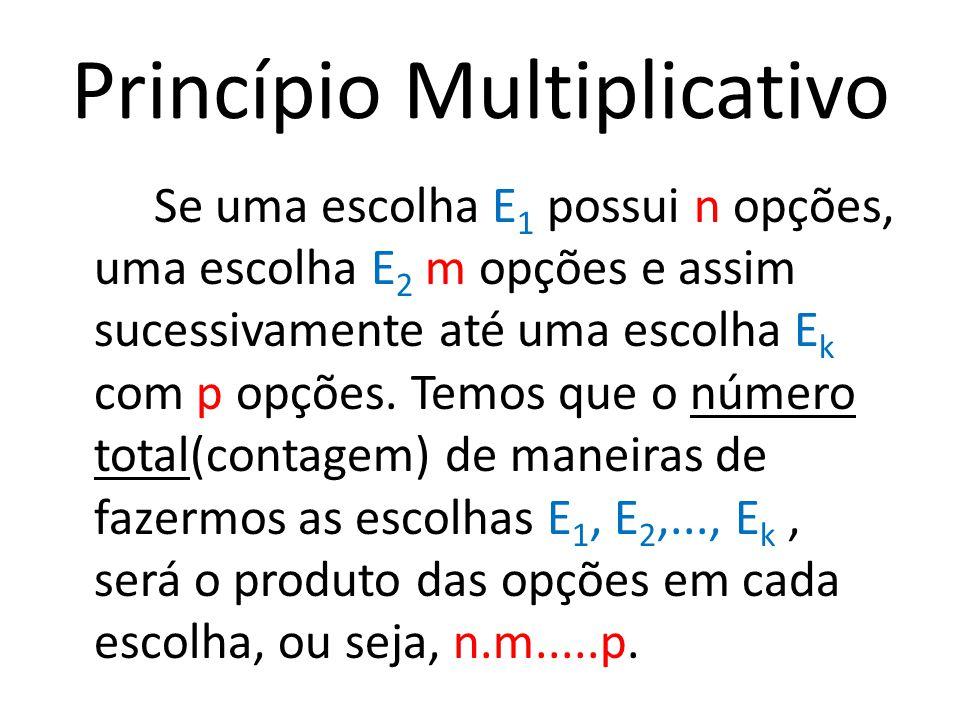 Princípio Multiplicativo
