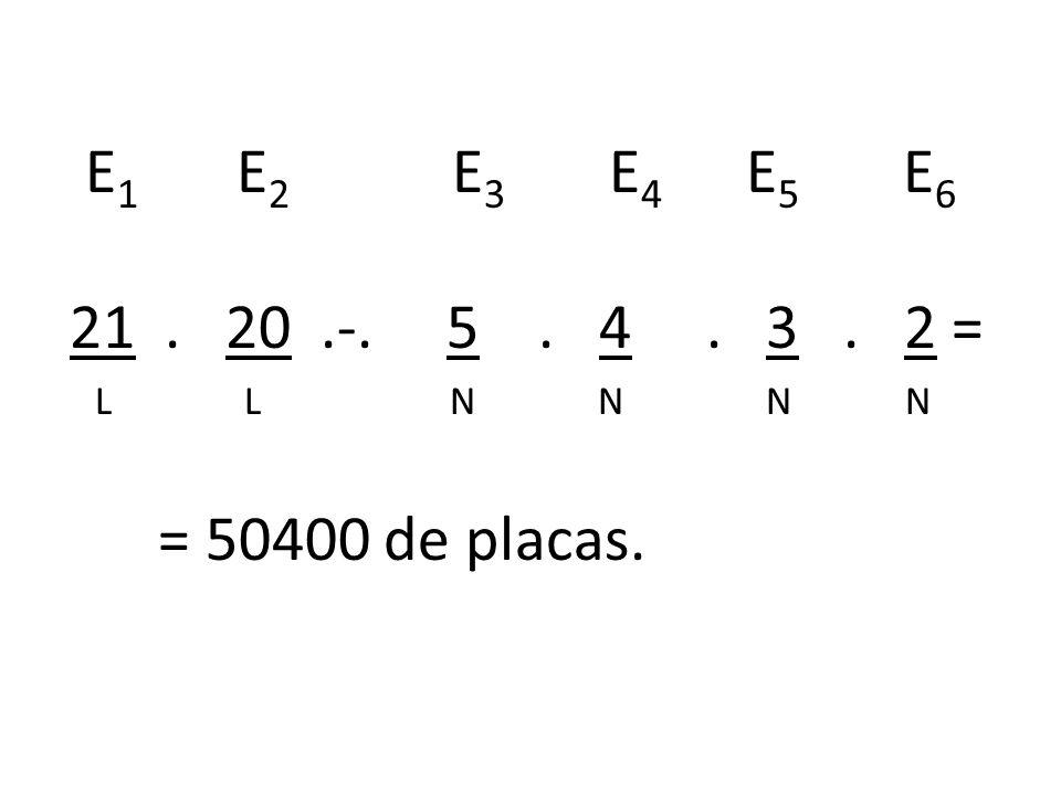 E1 E2 E3 E4 E5 E6 21 . 20 .-. 5 . 4 . 3 . 2 =