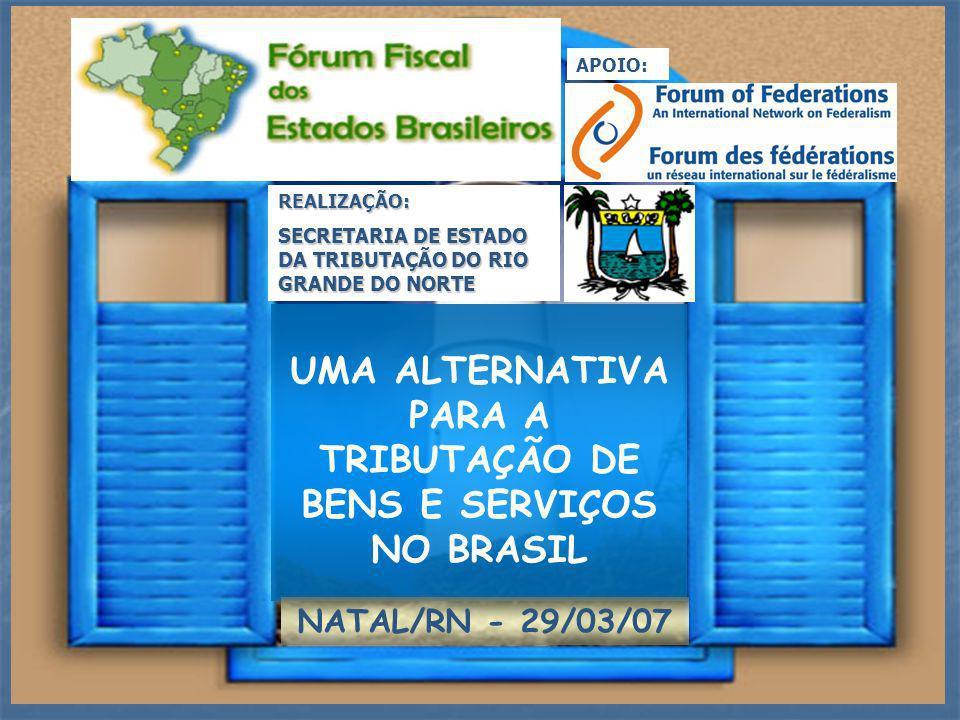UMA ALTERNATIVA PARA A TRIBUTAÇÃO DE BENS E SERVIÇOS NO BRASIL