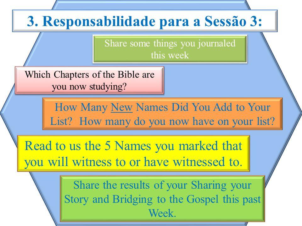 3. Responsabilidade para a Sessão 3: