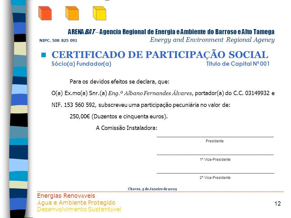 CERTIFICADO DE PARTICIPAÇÃO SOCIAL