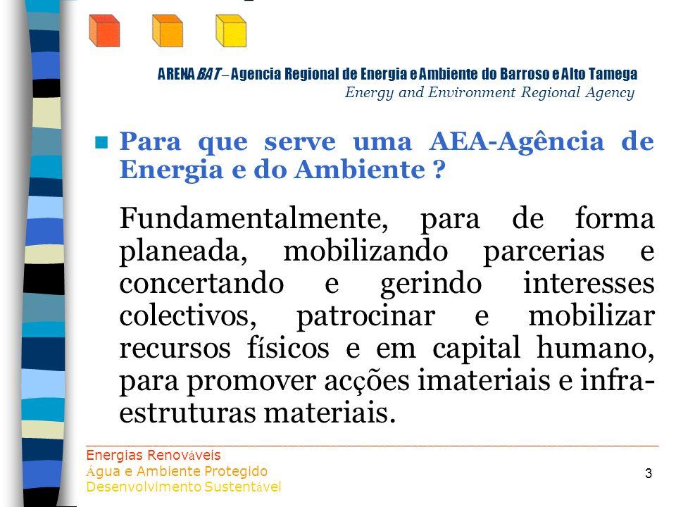 Para que serve uma AEA-Agência de Energia e do Ambiente