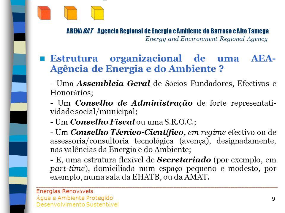 - Uma Assembleia Geral de Sócios Fundadores, Efectivos e Honorários;