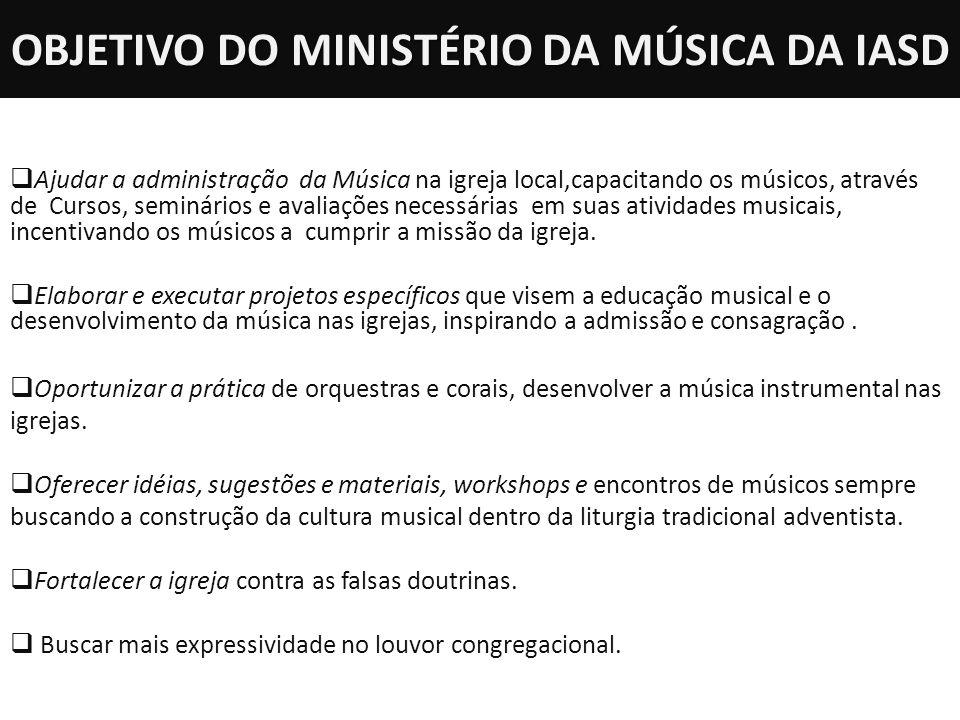 OBJETIVO DO MINISTÉRIO DA MÚSICA DA IASD