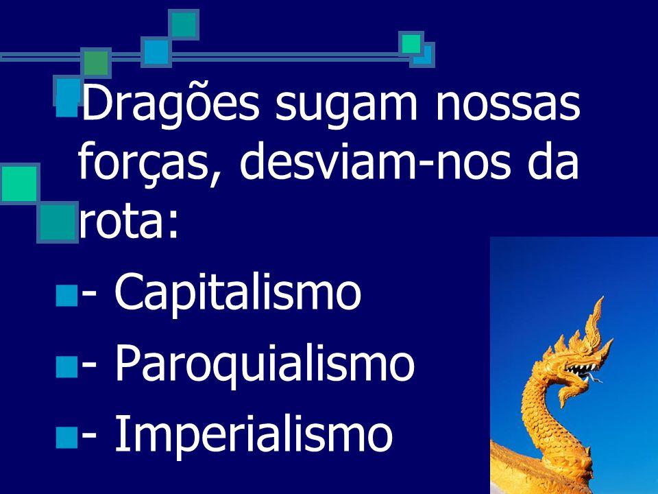 Dragões sugam nossas forças, desviam-nos da rota: