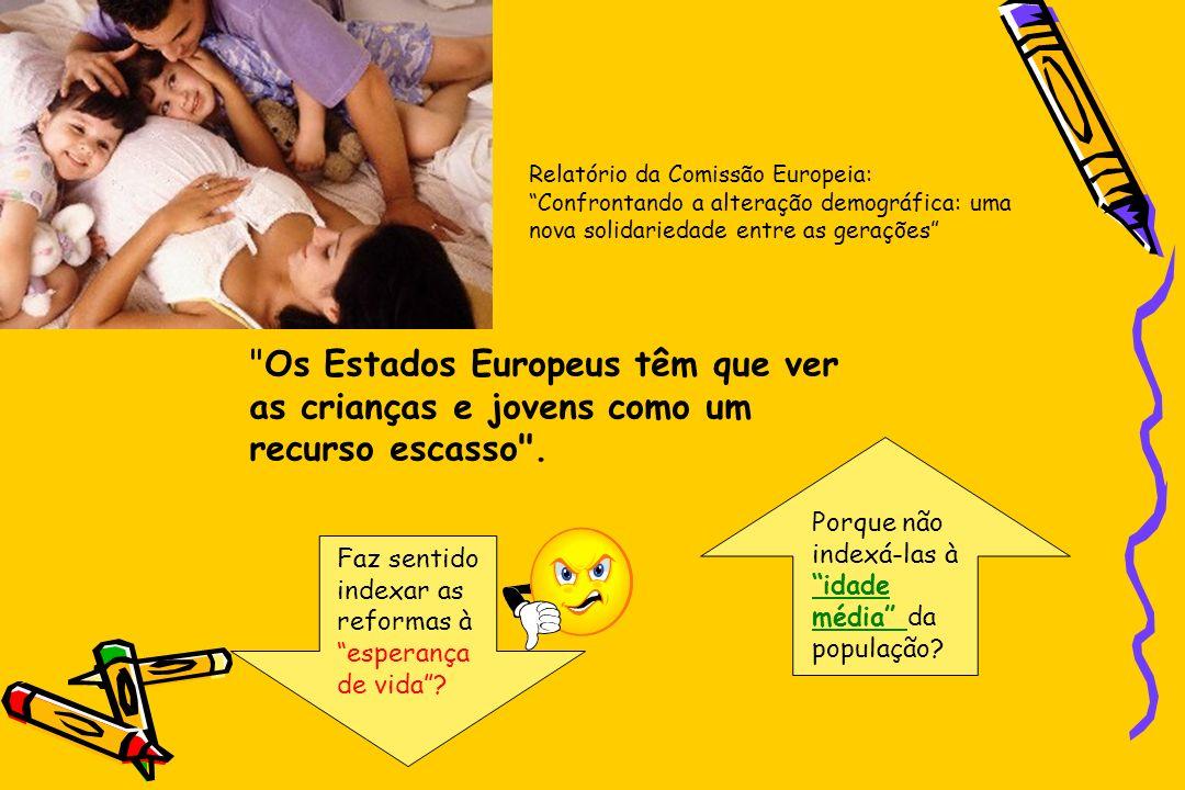 Relatório da Comissão Europeia: Confrontando a alteração demográfica: uma nova solidariedade entre as gerações