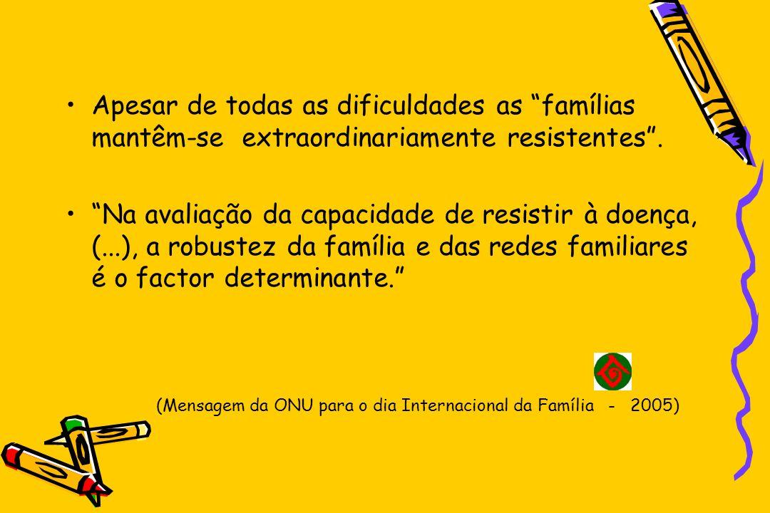 (Mensagem da ONU para o dia Internacional da Família - 2005)