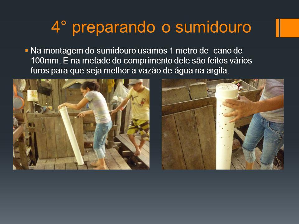 4° preparando o sumidouro