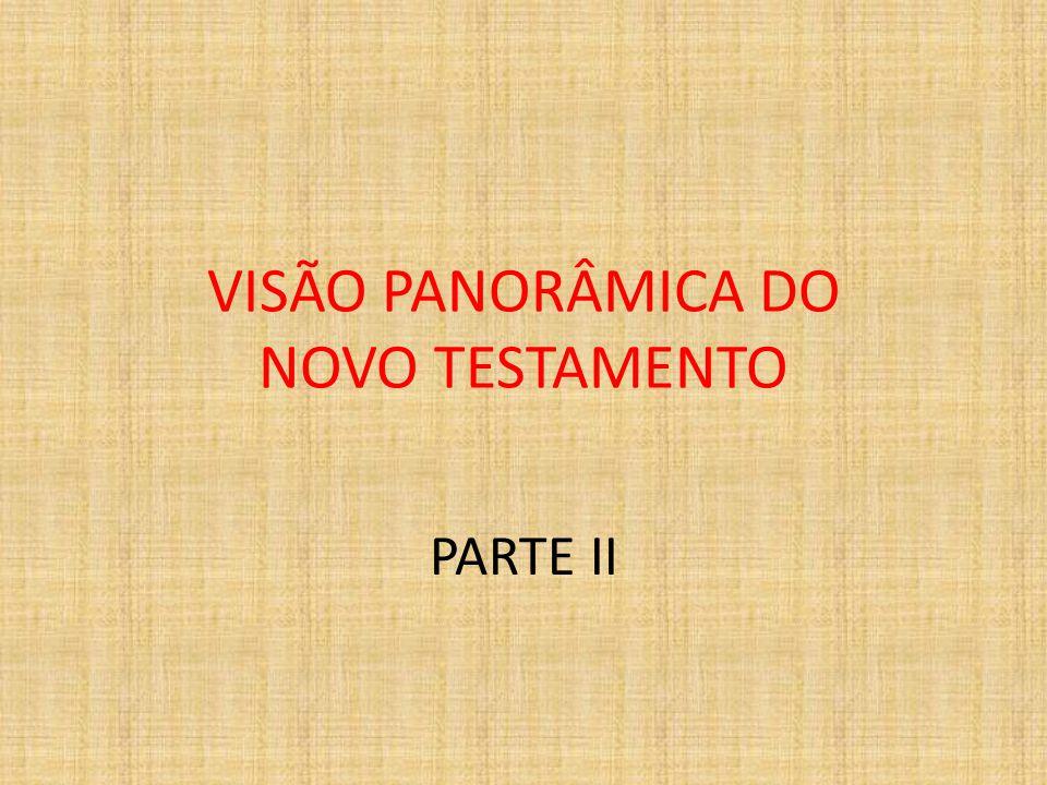 VISÃO PANORÂMICA DO NOVO TESTAMENTO