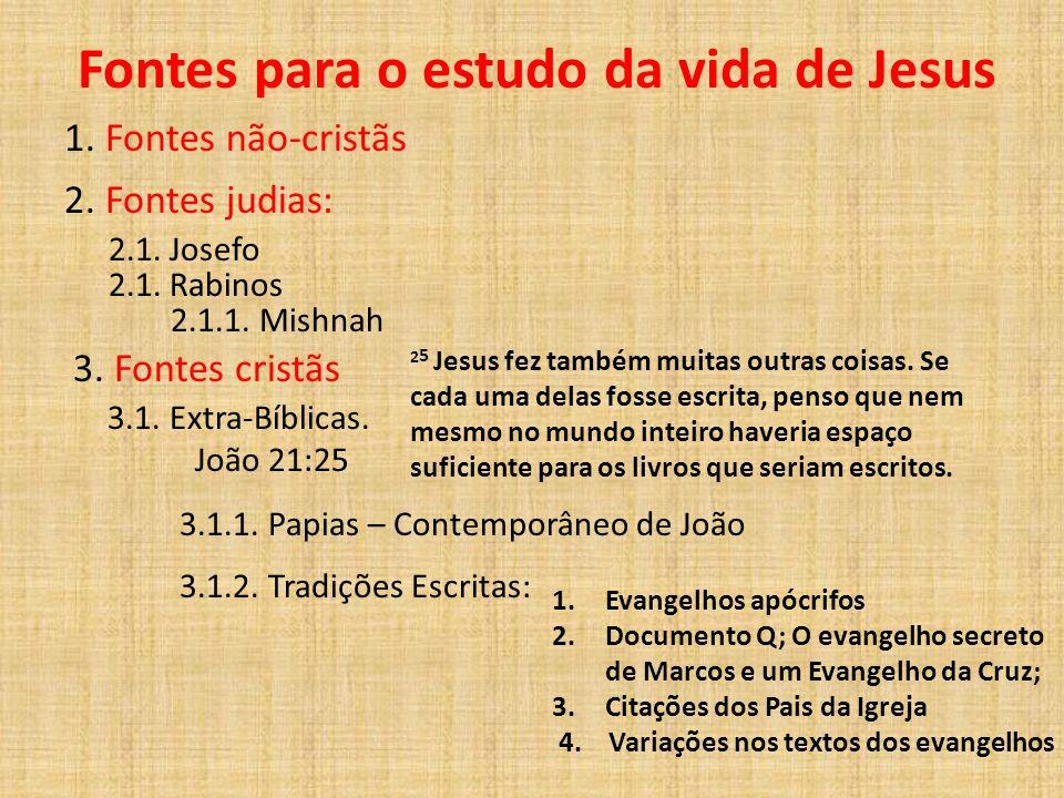 Fontes para o estudo da vida de Jesus
