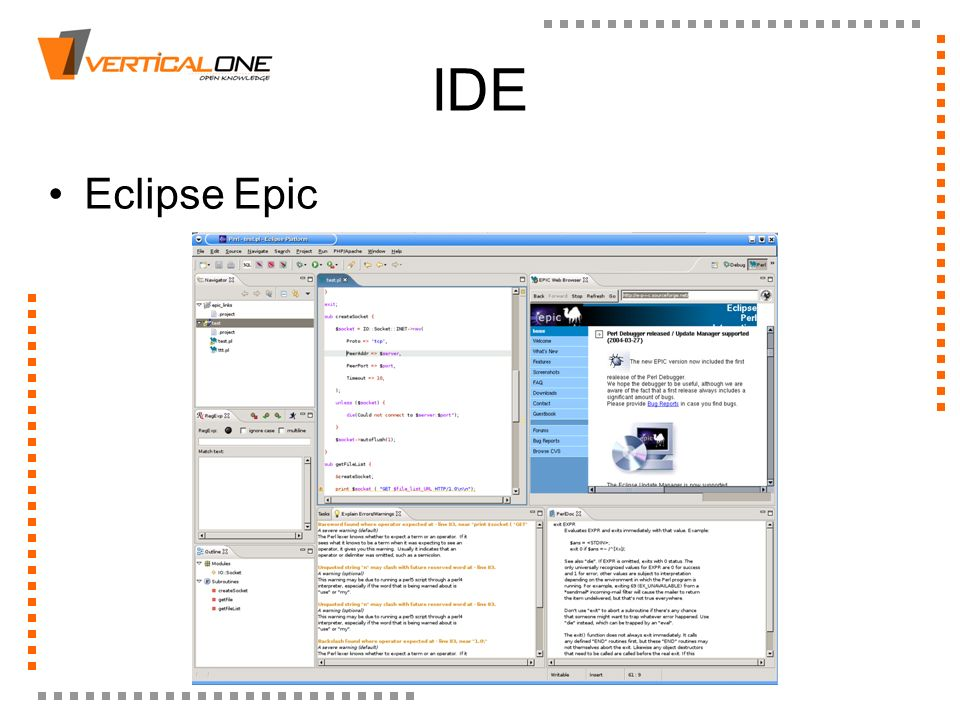 IDE Eclipse Epic
