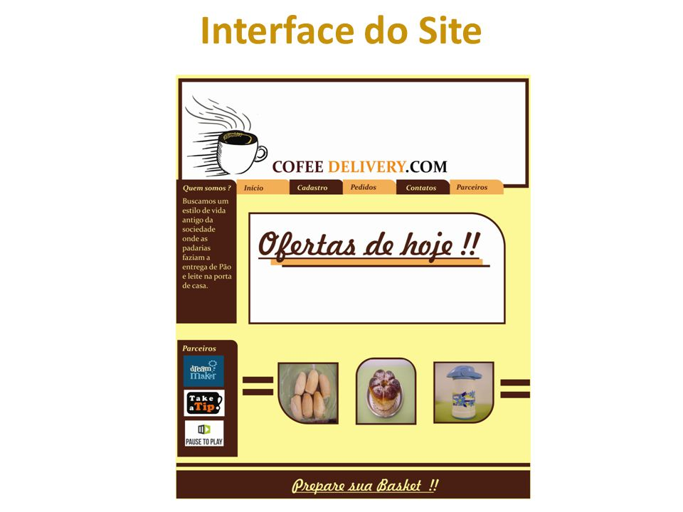 Interface do Site