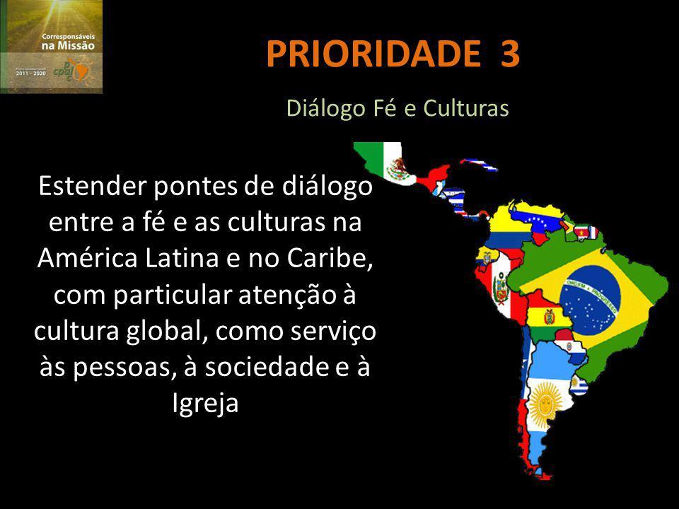 PRIORIDADE 3 Diálogo Fé e Culturas