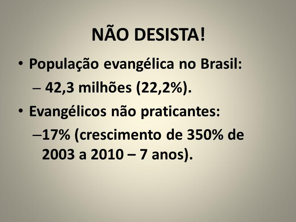 NÃO DESISTA! População evangélica no Brasil: