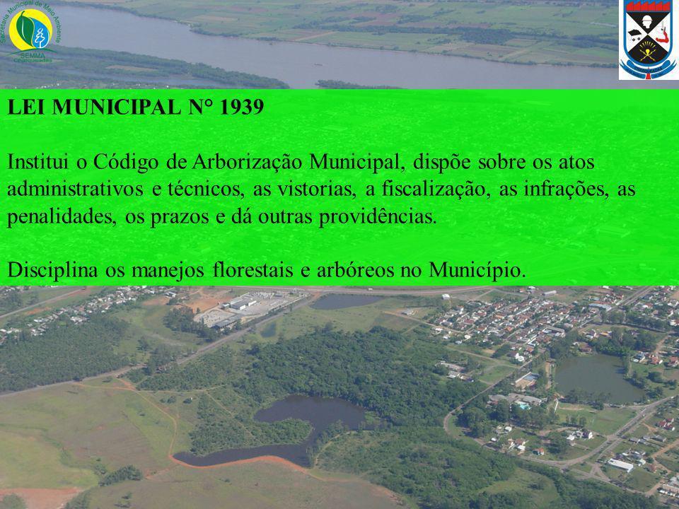 LEI MUNICIPAL N° 1939