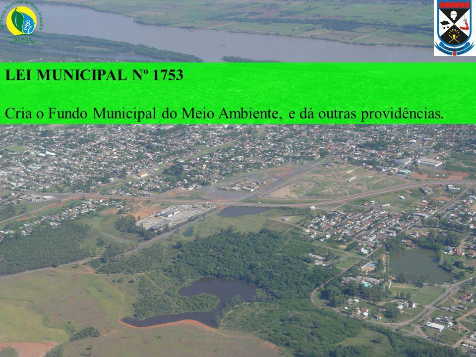 LEI MUNICIPAL Nº 1753 Cria o Fundo Municipal do Meio Ambiente, e dá outras providências.