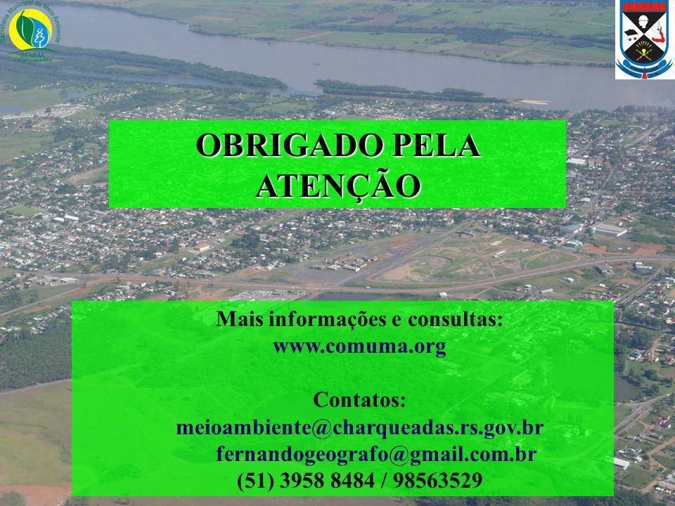 OBRIGADO PELA ATENÇÃO Mais informações e consultas: www.comuma.org
