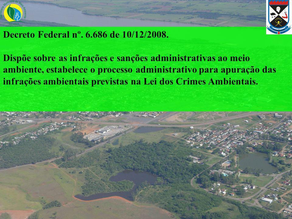 Decreto Federal nº. 6.686 de 10/12/2008.