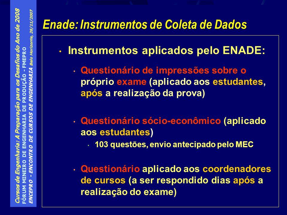 Enade: Instrumentos de Coleta de Dados