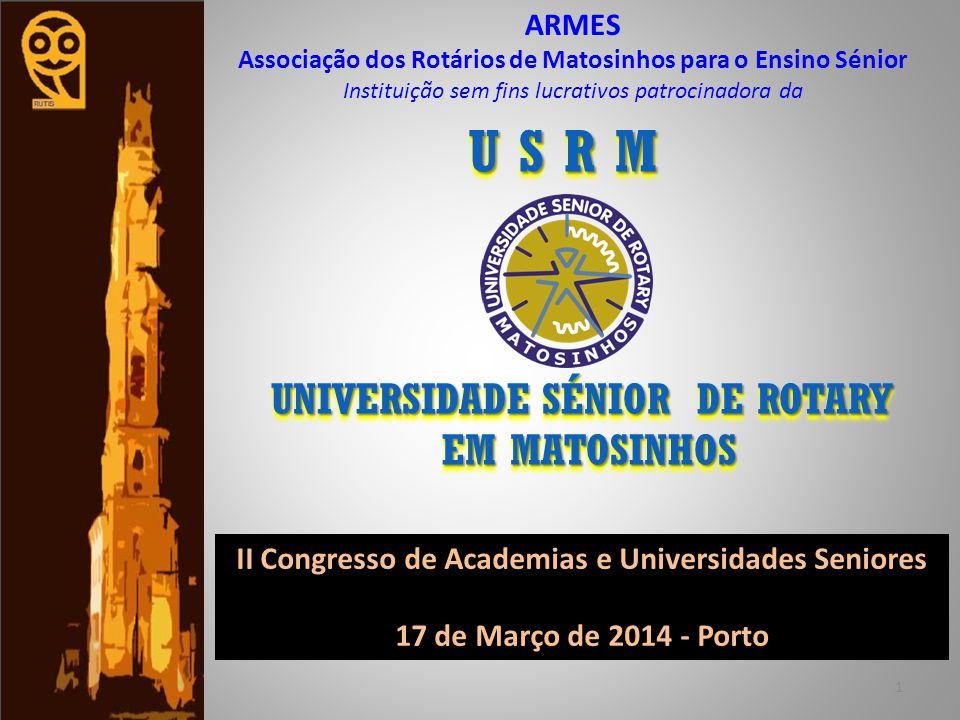 U S R M UNIVERSIDADE SÉNIOR DE ROTARY EM MATOSINHOS ARMES
