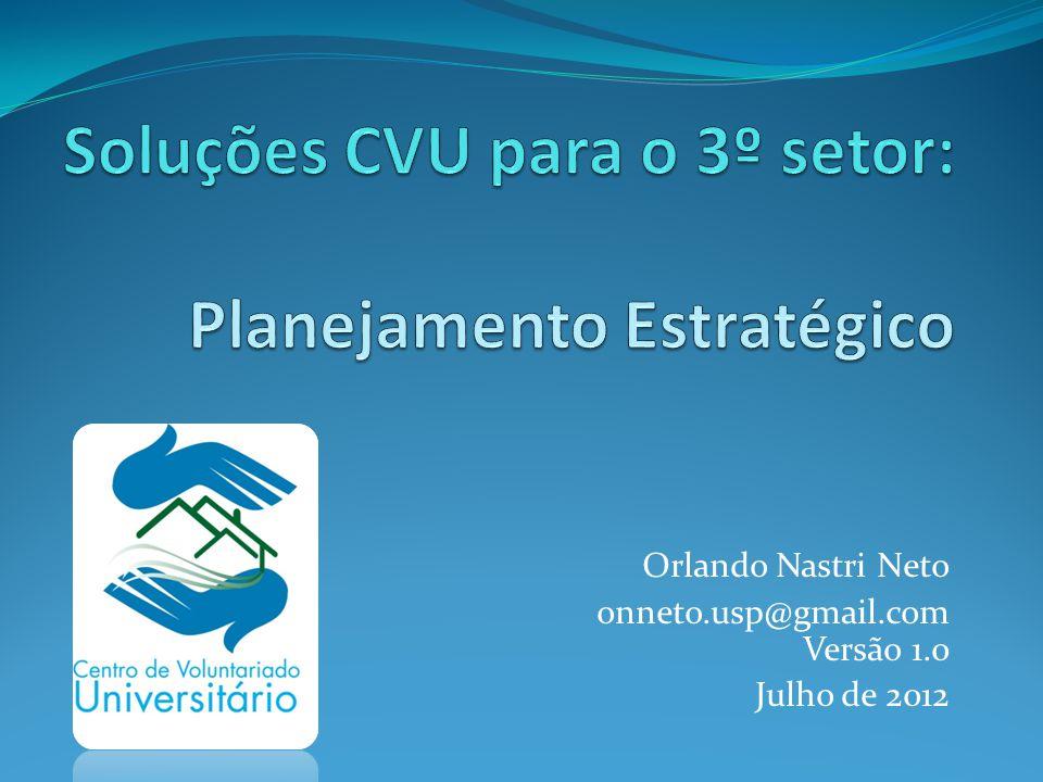 Soluções CVU para o 3º setor: Planejamento Estratégico