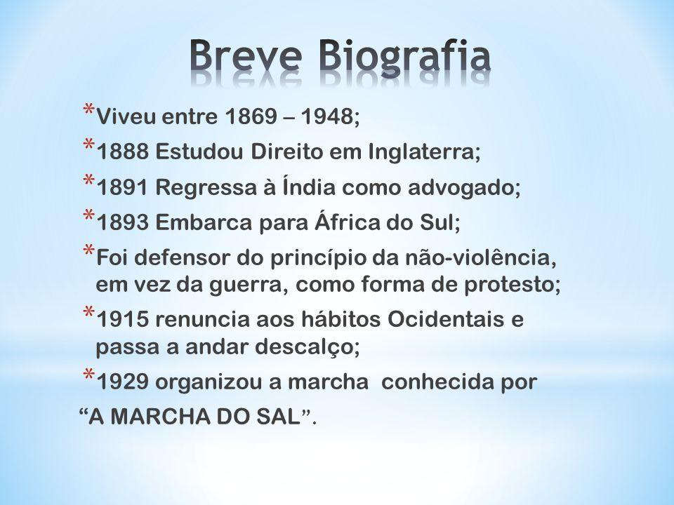 Breve Biografia Viveu entre 1869 – 1948;