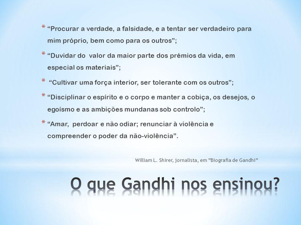 O que Gandhi nos ensinou