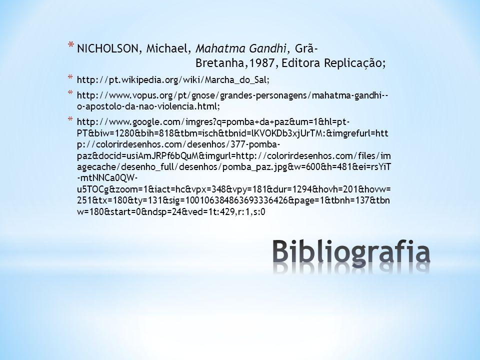 NICHOLSON, Michael, Mahatma Gandhi, Grã-