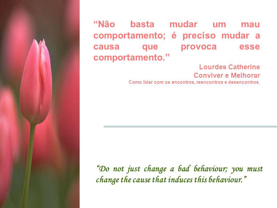 Não basta mudar um mau comportamento; é preciso mudar a causa que provoca esse comportamento.